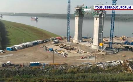 Cum încurcă funcționarii români construcțiile la podul peste Dunăre de la Brăila. \