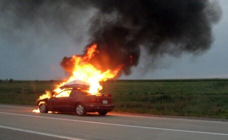 Accident cumplit in Brasov! Doi tineri au ars de vii