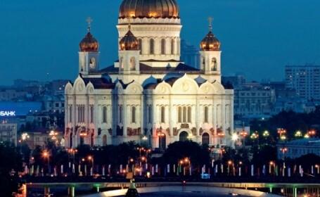 Spectacol de zile mari in centrul Moscovei
