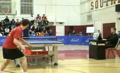 Cea mai tare celebrare din sport vine de la ping-pong. 10-0 pentru adversar