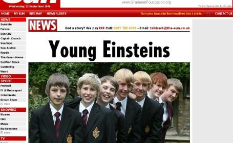 Opt baieti de la aceeasi scoala au acelasi IQ ca Einstein