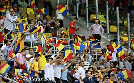 suporteri Romania - National Arena