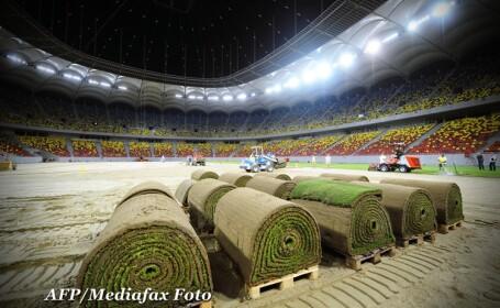 A sosit gazonul olandez pentru National Arena. Miercuri noapte incepe montajul