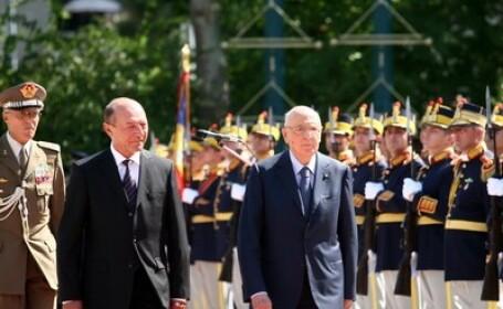 Basescu, dupa intalnirea cu presedintele Italiei: \