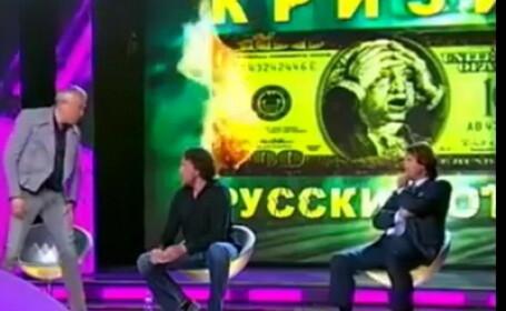 Bataie intre miliardari rusi, LIVE, timpul unei emisiuni despre criza financiara. VIDEO