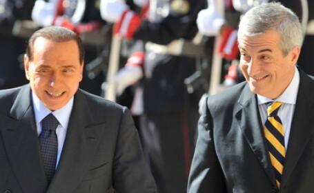 Silvio Berlusconi si Calin Popescu Tariceanu