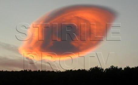 UPDATE: Spectacol pe cer in doua judete din Romania. Formele spectaculoase oferite de nori