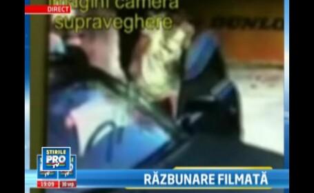 Imagini camera de supraveghere.Au distrus masina unui rival, fara sa stie ca sunt filmati in detaliu
