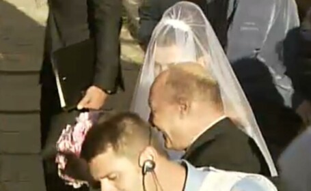 Traian Basescu, dupa nunta fiicei sale la Biserica Sfantul Spiridon Nou: \
