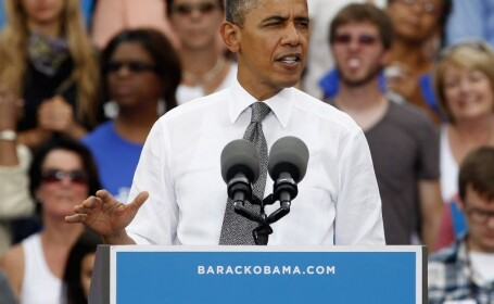 Barack Obama se afla pe primul loc in sondaje in trei state-cheie