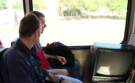 televizor tramvai