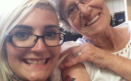 Ce si-a tatuat aceasta femeie pe mana la 86 de ani: \