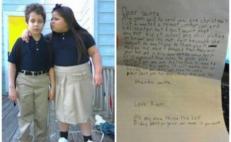 Scrisoarea unui copil de 8 ani catre Mos Craciun ajunsa viral pe net: \