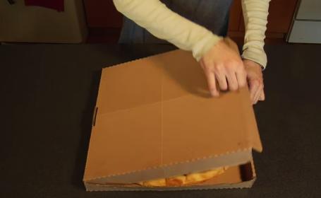 Cutia de pizza care iti poate revolutiona viata. Ce se intampla dupa ce o deschizi
