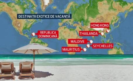 HARTA destinatiilor de lux preferate de romani. Agentiile de turism au vandut 20.000 de vacante exotice anul acesta
