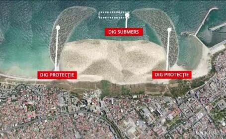 Olandezii care au construit insula palmier din Dubai vin pe litoralul romanesc. Proiectul cu 2,5 mil. de metri cub de nisip