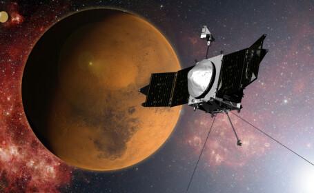 Primul vehicul spatial construit pentru a cerceta atmosfera lui Marte s-a plasat cu succes pe orbita planetei