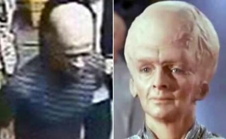 Politia britanica ridiculizata. Fortele de ordine cauta un suspect care seamana cu un... extraterestru din \
