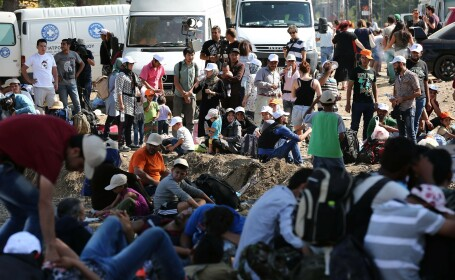 imigranti Macedonia - GETTY IMAGES