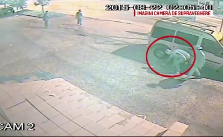 Au distrus rotile a 9 masini, aflate intr-o parcare din Galati. Ce au surprins camerele de supraveghere