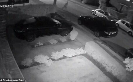 Masina de lux, furata in 23 de secunde. Intreaga operatiune a fost inregistrata de camerele de supraveghere. VIDEO