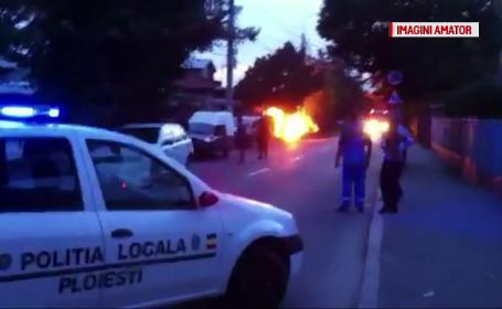 Doi muncitori din Ploiesti, raniti, dupa ce o conducta de gaze a luat foc. De la ce a pornit incendiul