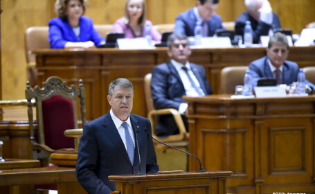 Discursul presedintelui in Parlament. Iohannis cere un Parlament \