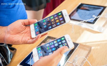 lansare Apple in 2014, oameni cu iPhone-uri in mana