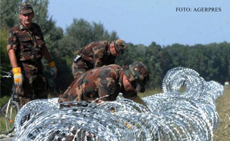 soldati maghiari ridica un gard anti-imigranti