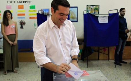 Alexis Tsipras voteaza