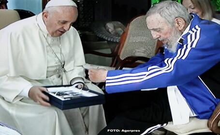 Papa Francisc s-a intalnit cu Fidel Castro, la locuinta liderului cubanez. Ce cadouri si-au facut cele doua personalitati