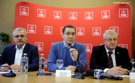 Liviu Dragnea, Victor Ponta, Daniel Savu - AGERPRES