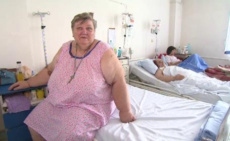 Cum umileste sistemul medical din Romania o femeie supraponderala din cauza unei tumori: \