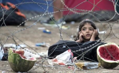 Drama prin care trec copiii refugiatilor. Copilaria petrecuta sub cerul liber, la temperaturi ce continua sa scada