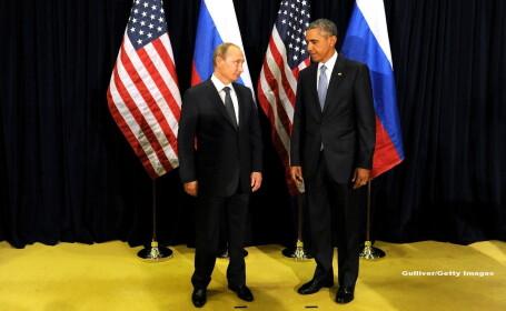 Cei mai puternici conducatori ai lumii, fata in fata. O fotografie cu Obama si Putin \