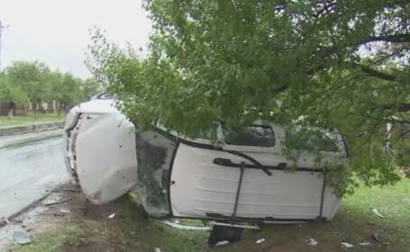 Accident grav intre Targoviste si Bucuresti. Patru persoane au fost ranite, una fiind dusa la spital cu elicopterul