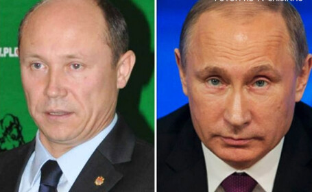 Valeriu Strelet si Vladimir Putin