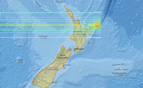 Alerta de tsunami in Noua Zeelanda, dupa un cutremur de magnitudine 7,1. Zonele de coasta au fost evacuate