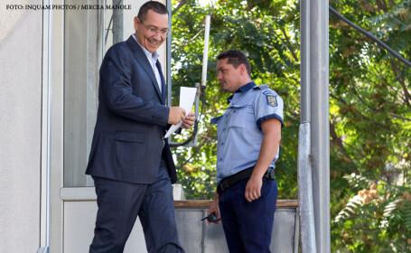 Victor Ponta la sectia 6 politie