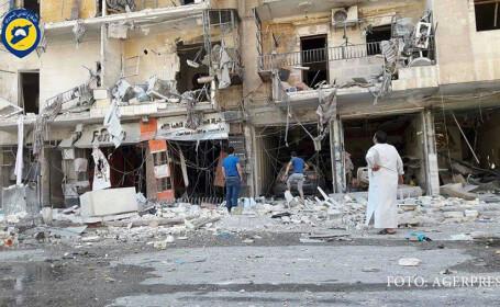Alep dupa bombardamente