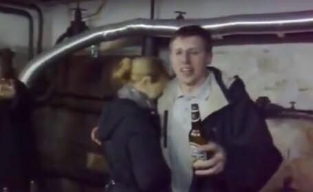VIDEO cu edilul Chisinaului, la o petrecere intr-un garaj, cu alcool: \