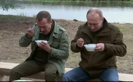 Vladimir Putin, pescuit, Dmitri Medvedev