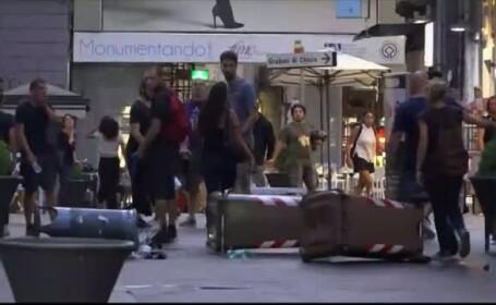 Bataie la Napoli, intre scutieri si demonstranti de stanga. Ce a provocat altercatia