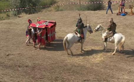 Dacii si romanii s-au luptat langa Galati. Sute de spectatori au venit la festival: \