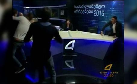 Doi parlamentari din Ucraina s-au luat la bataie, in direct, la tv. Subiectul care a incins spiritele