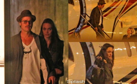 Angelina Jolie, Brad Pitt, avion