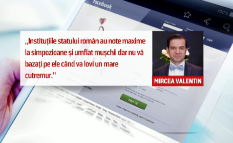 Valentin Micea, cutremur