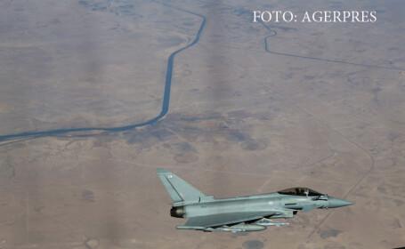 avion britanic Typhoon survoland Irakul