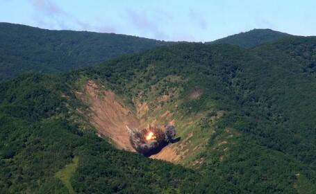 """MAE condamnă """"cu fermitate"""" testul nuclear efectuat de Coreea de Nord"""
