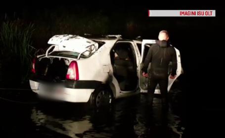 Un bărbat a murit după ce s-a scufundat cu tot cu mașină în Olt. Ce spun martorii